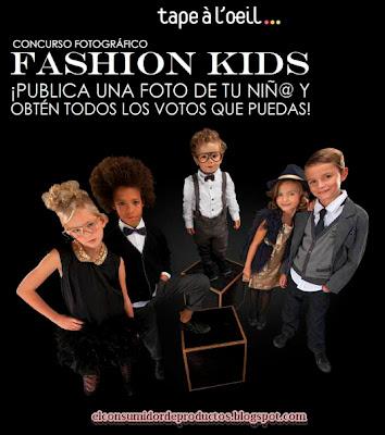 Concurso fotográfico casting infantil TAPE À L'OEIL Fashion Kids