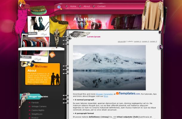 Free Sexy Pink Grunge Fashion Jquery Blogger Web 2.0 Layout Theme Template, ...