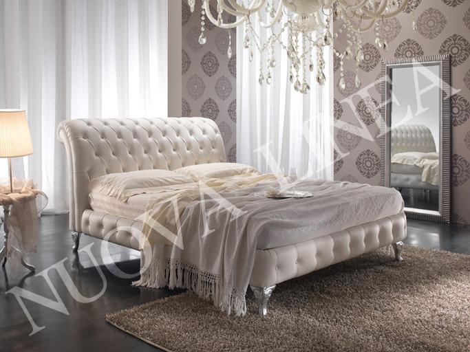 L 39 arte di creare ispirazioni camera da letto - Letto in pelle bianco ...
