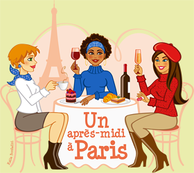 "Ilustrao para a festa temtica ""Un aprs-midi  Paris"""