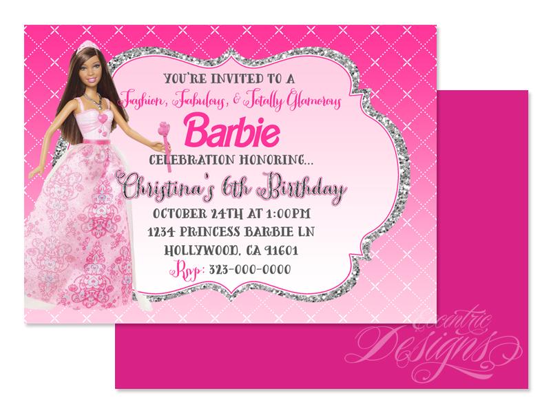 Eccentric Designs by: Latisha Horton: Barbie Birthday Party ...