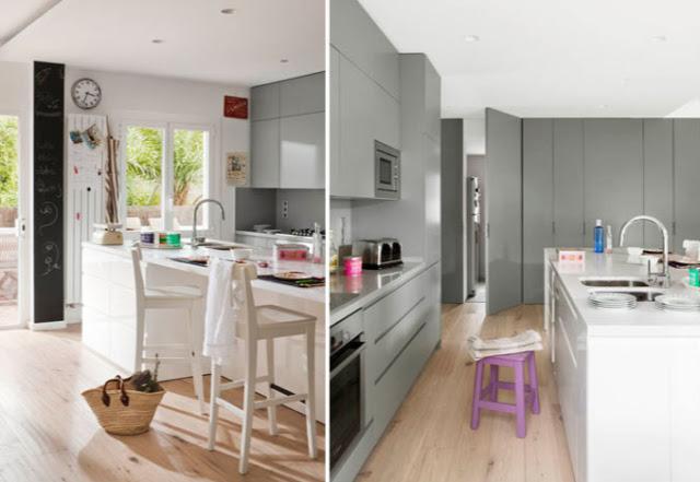 cocina diseño gris