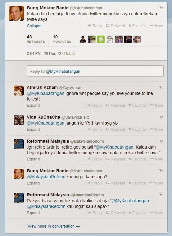 @ibdil Bung Moktar Radin TUTUP TWITTER Tanda Kalah Perang Psikologi?!