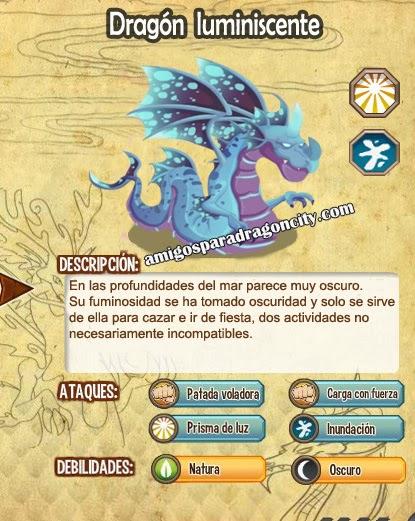 imagen de las caracteristicas del dragon luminiscente