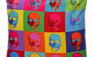 Cushion cover Skulls Pop Art style