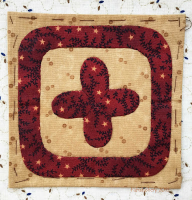 Dear Jane Quilt - Block G3 Four Leaf Clover