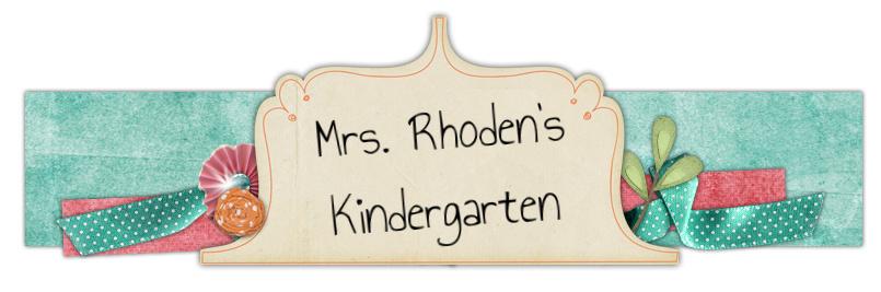 Mrs. Rhoden's Kindergarten