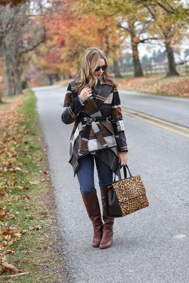 chicwish coat, jcrew jeans, nine west boots, boden handbag, elizabeth & james sunglasses