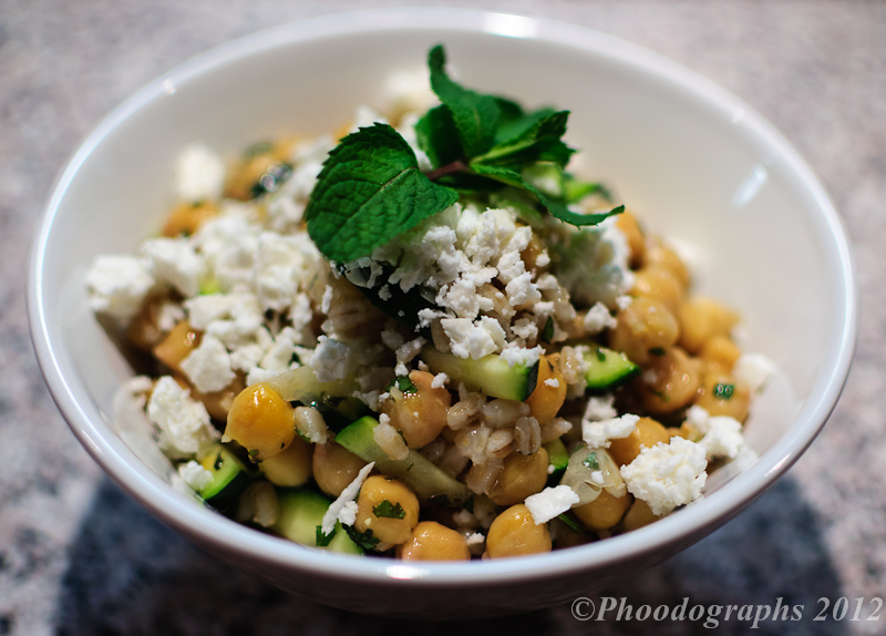 Chickpea, Barley and Zucchini Ribbon Salad with Mint and Feta ...