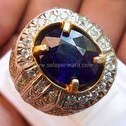 Cincin Batu Permata Blue Sapphire - SP687