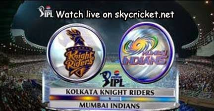 Kolkatta Knight Riders vs Mumbai Indians online streaming