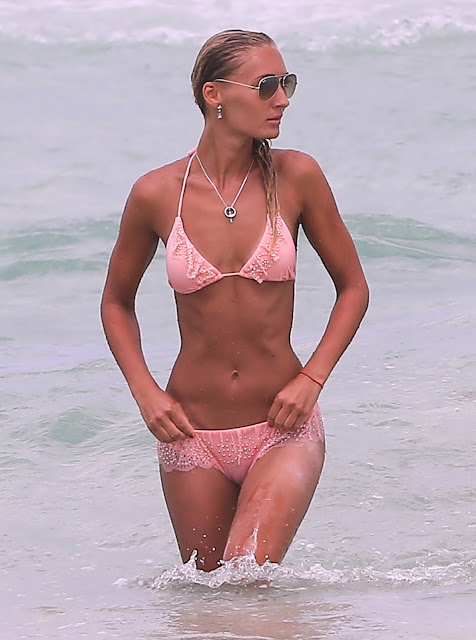 Petra Benova wearing a  Bikini at Miami Beach June 2013