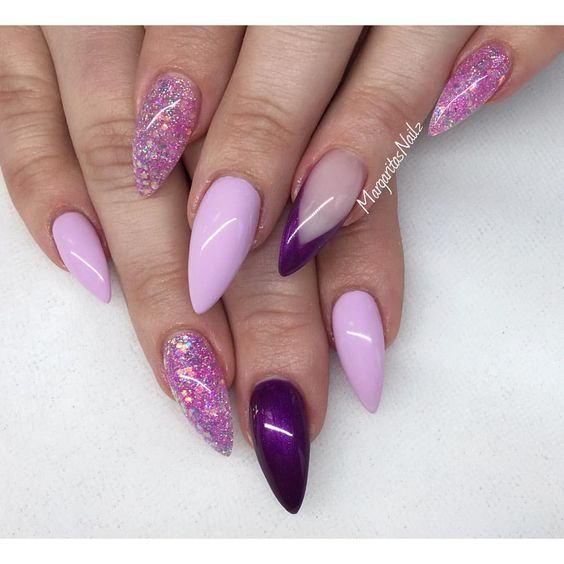 awesome lavender nails - omg love
