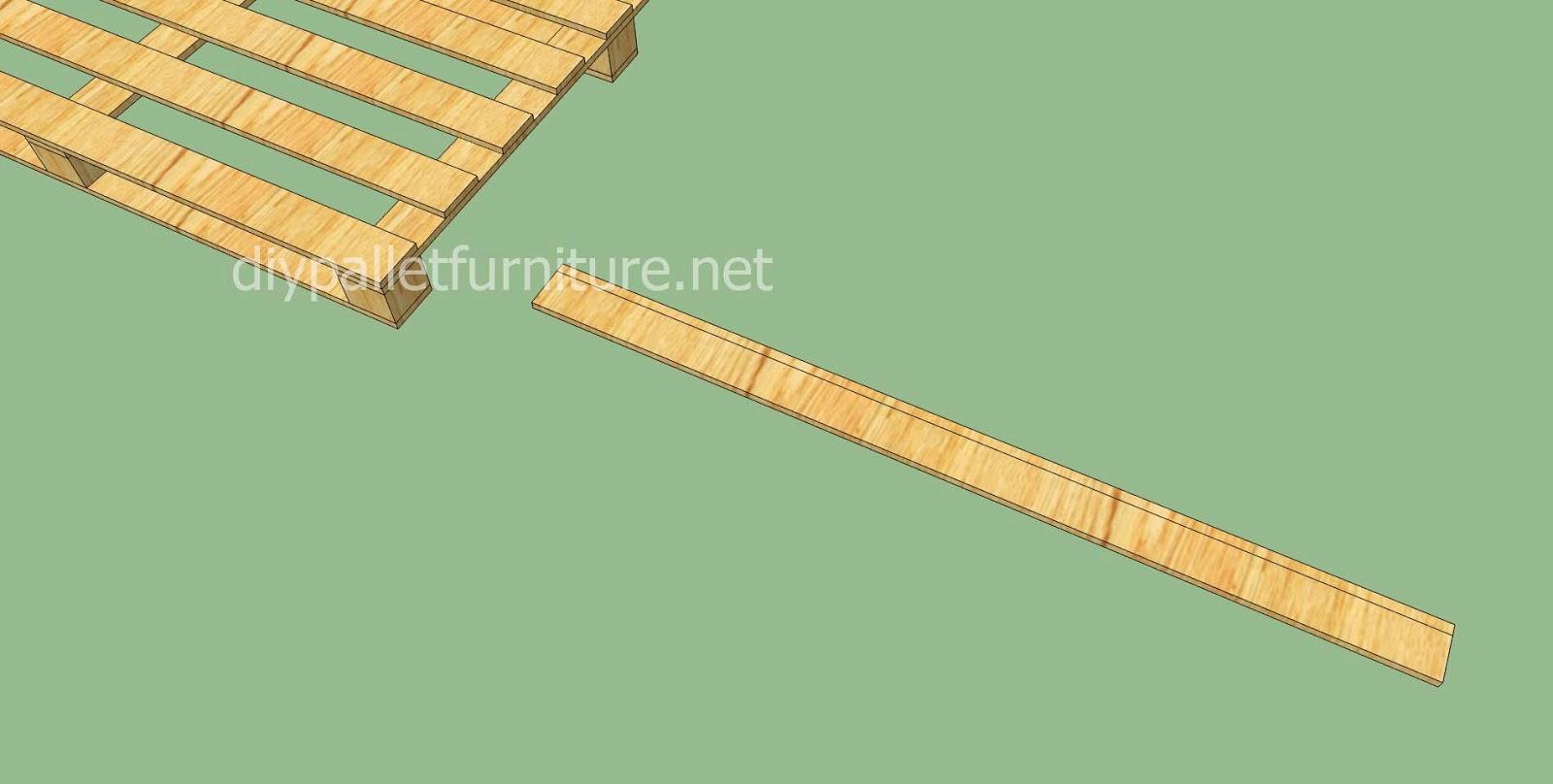 Tarima sencilla hecha con palets de - Como colocar tarima de madera ...