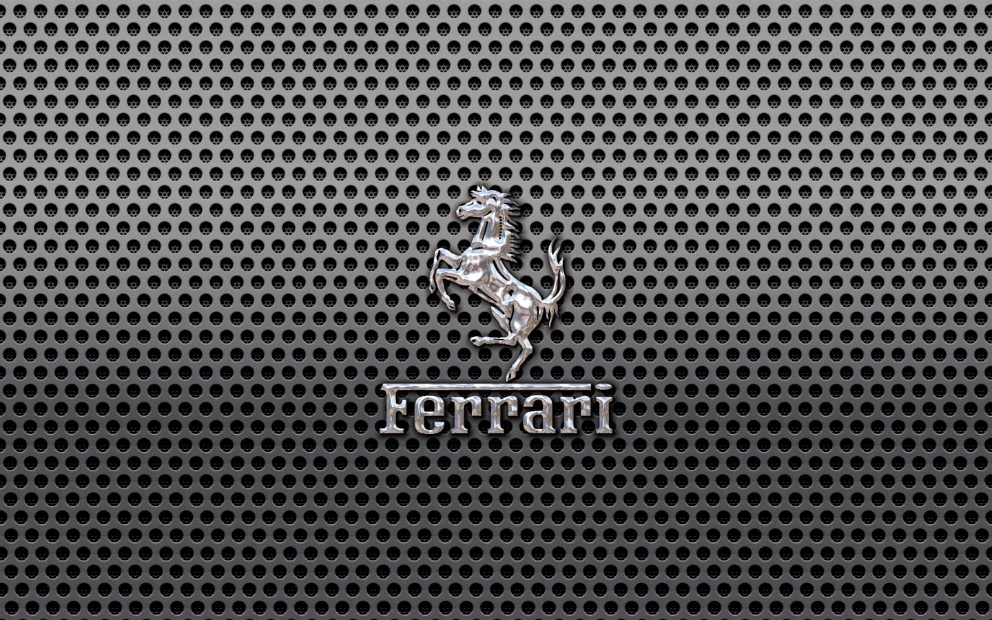 ferrari prancing horse dark metal hd widescreen wallpaper