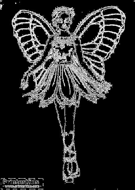 Barbie Mariposa para colorir