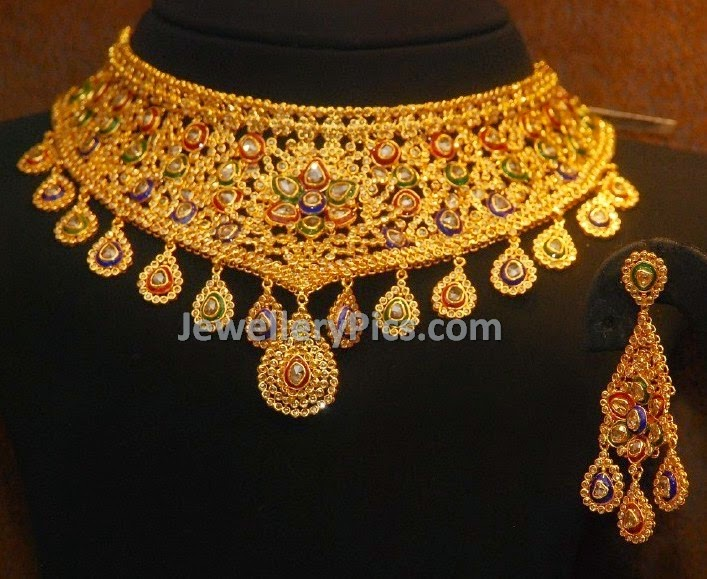 Polki kundan necklace