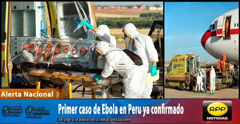 Estudiante Universitario es el primer caso de Ebola en Peru.