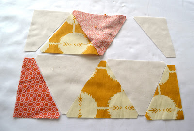 sewing sixty degree triangles tutorial