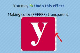Setting the transparency color