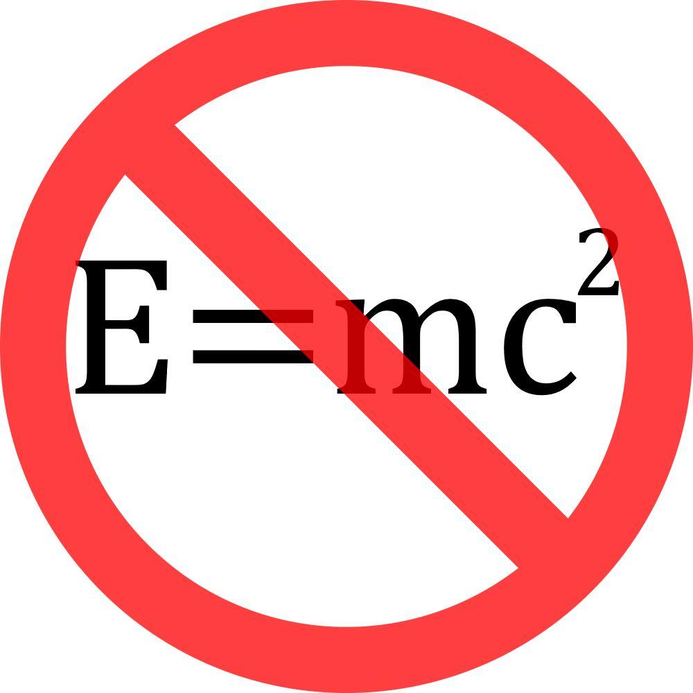 E Not = m c 2
