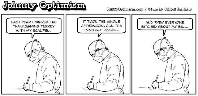 johnny optimism, johnnyoptimism, stilton jarlsberg, medical humor, sick jokes, surgeon