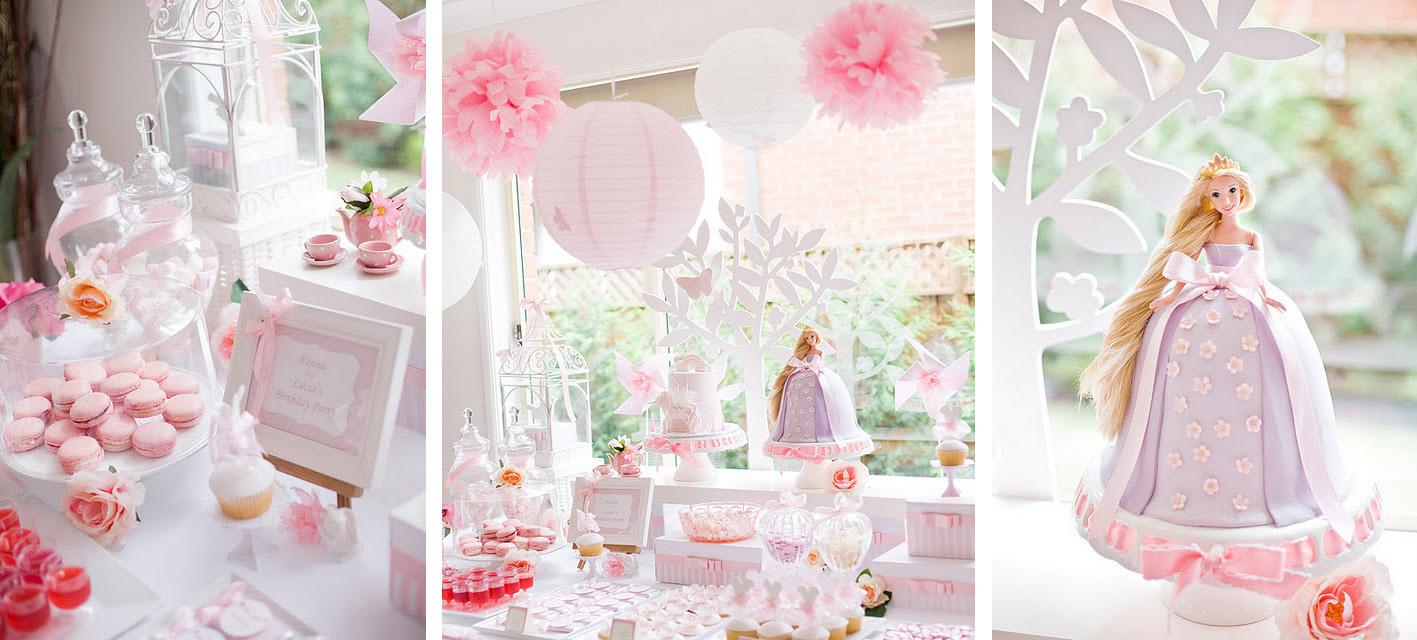 Inspira    O  Festa Rosa De Barbie Princesa Para Meninas