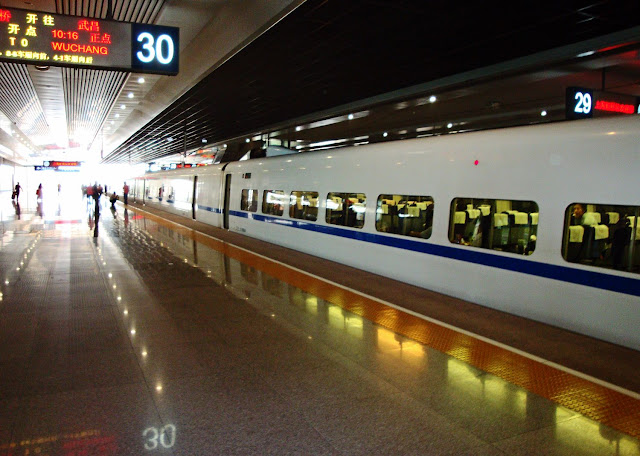 train platform and train in china