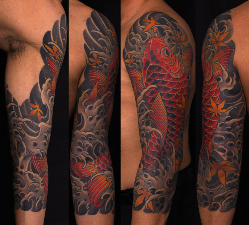 Jeff srsic koi 3 4 sleeve for 3 4 sleeve tattoo