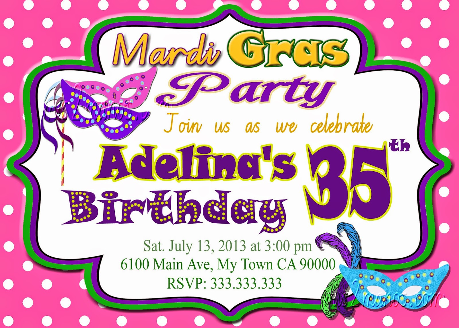 Mis 2 Manos: Made by My Hands: Mardi Gras Christmas Bridal Shower ...