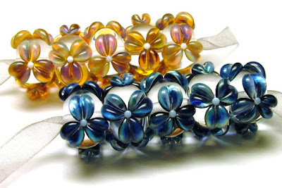 Lampwork Glass Floral Beads