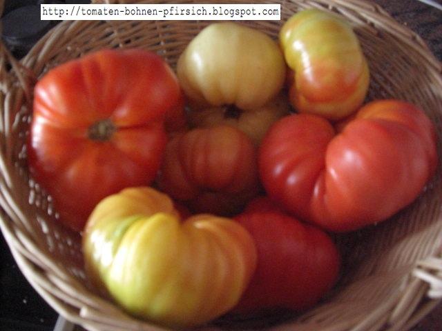 hillbilly dicke gestreifte fleischtomate tomaten bohnen pfirsich. Black Bedroom Furniture Sets. Home Design Ideas