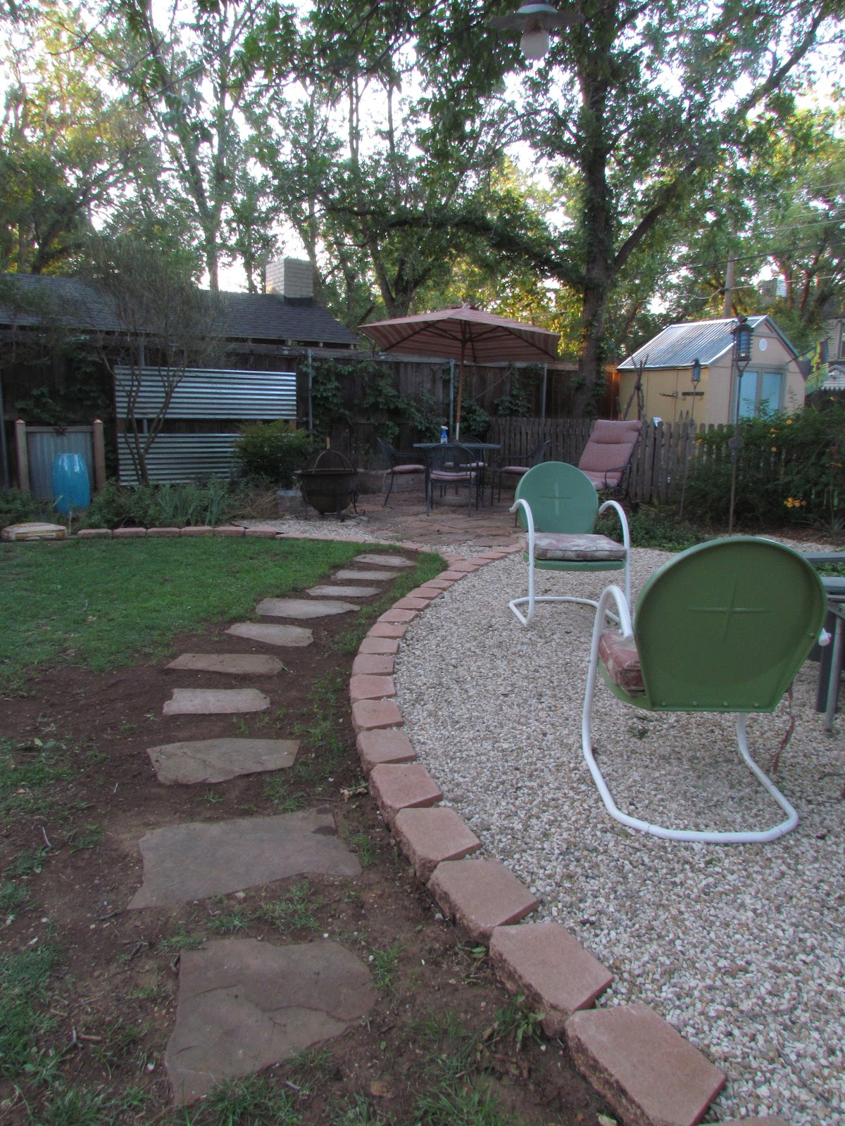 Pea Gravel Backyard For Dogs : The Bicycle Garden Sharing the garden with dogs