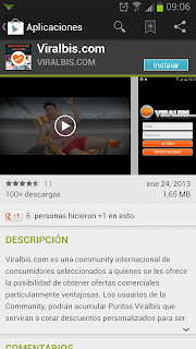 Viralbis en Play Store