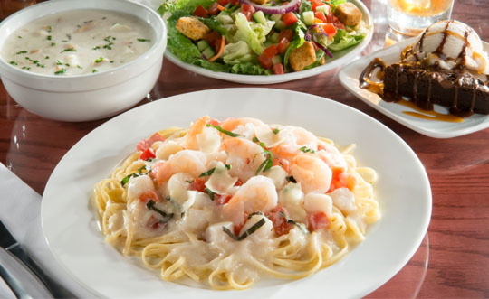 New! Shrimp & Scallops Linguini