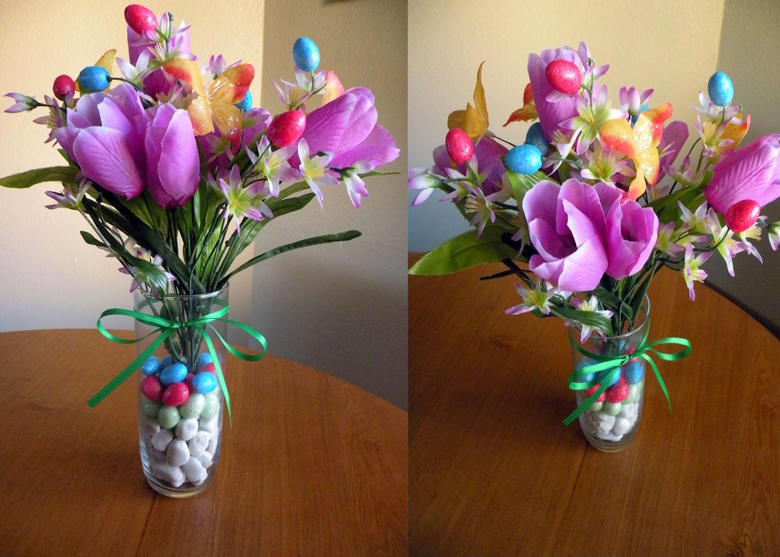 Spring Time or Easter Centerpiece under $5