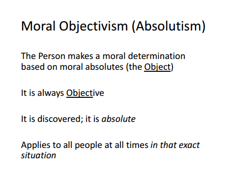 subjectivism vs objectivism essay Moral relativism and moral subjectivism michael taber st mary's college of maryland moral relativism what makes the right actions right, and the wrong actions wrong.
