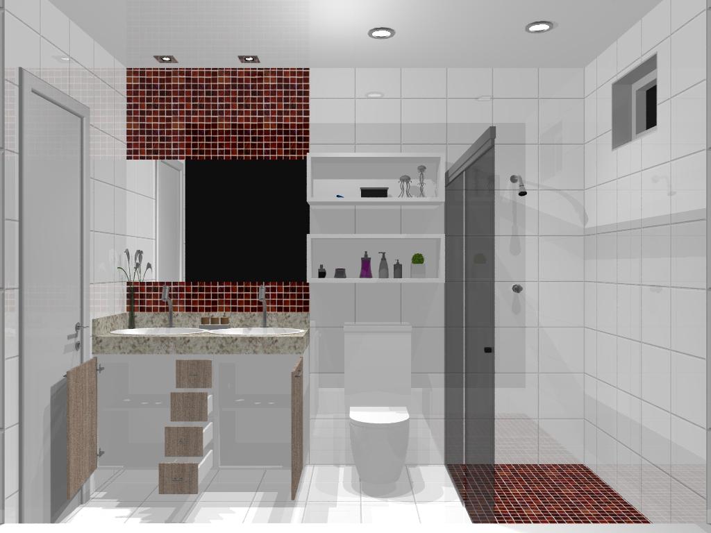Armário Planejado para Banheiro Pequeno Bella Kaza Móveis Planejados Fortalez -> Banheiro Planejado Pia