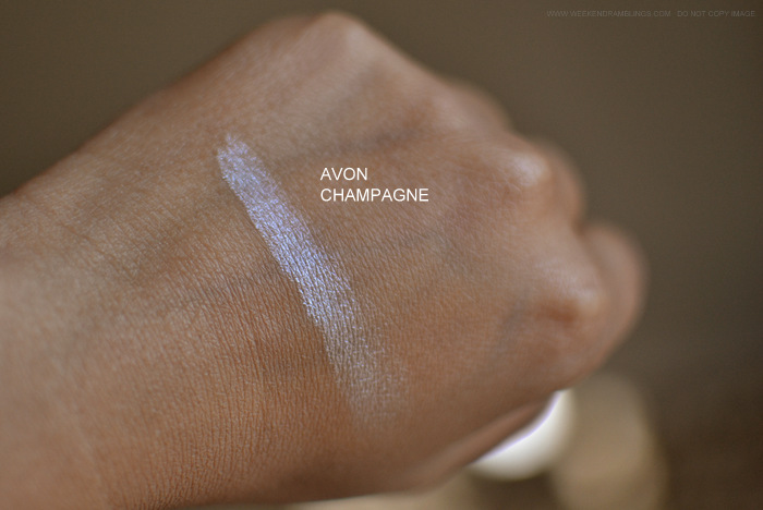 Avon True Color Eyeshadow Single Champagne - Photos Swatches Review FOTD - Indian Makeup Beauty Blog