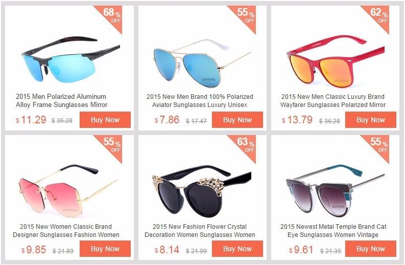 Солнцезащитные очки с большой скидкой к новому сезону