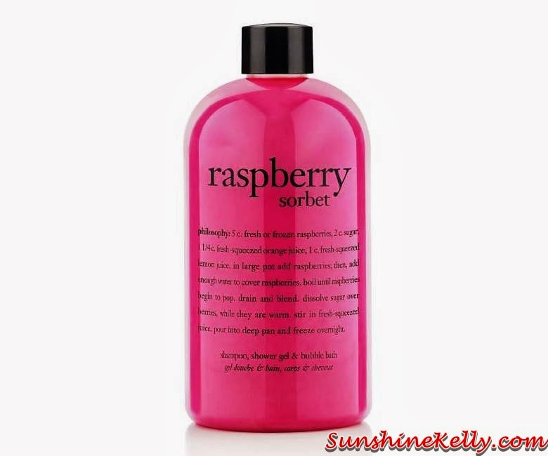Philosophy Skincare in Malaysia, Philosophy Skincare, Raspberry Sorbet, Shampoo, Shower Gel, Bubble Bath, skincar, usa skincare, believe in miracles