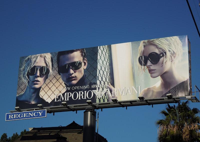 Emporio Armani eyewear 2011 billboard