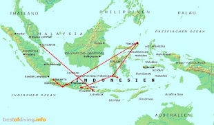 Reiseroute Indonesien