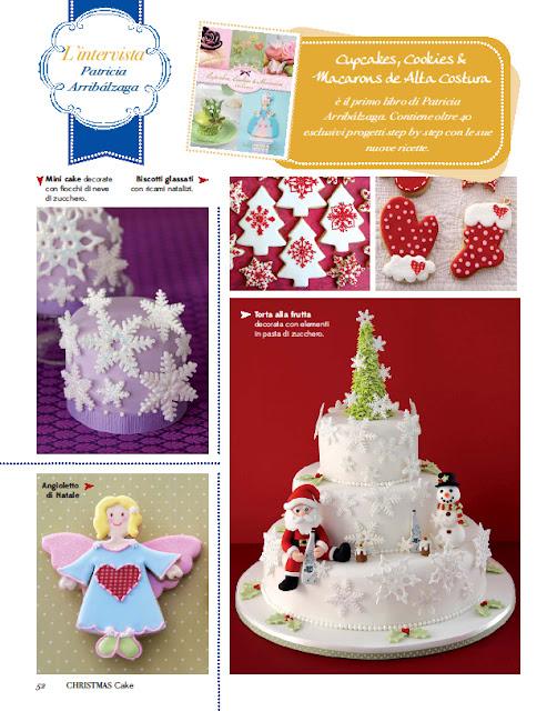 Patricia Arribálzaga en Christmas Cake revista