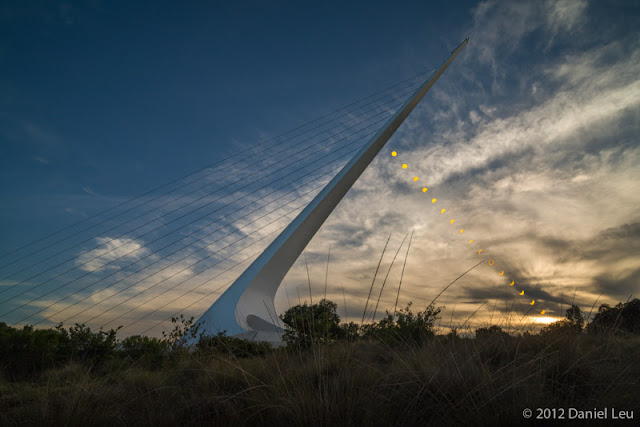 Sundial Bridge with Annular Solar Eclipse Sequence