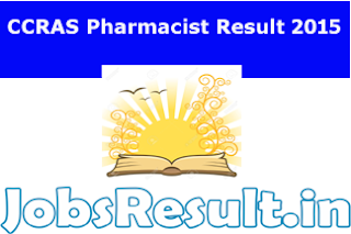 CCRAS Pharmacist Result 2015