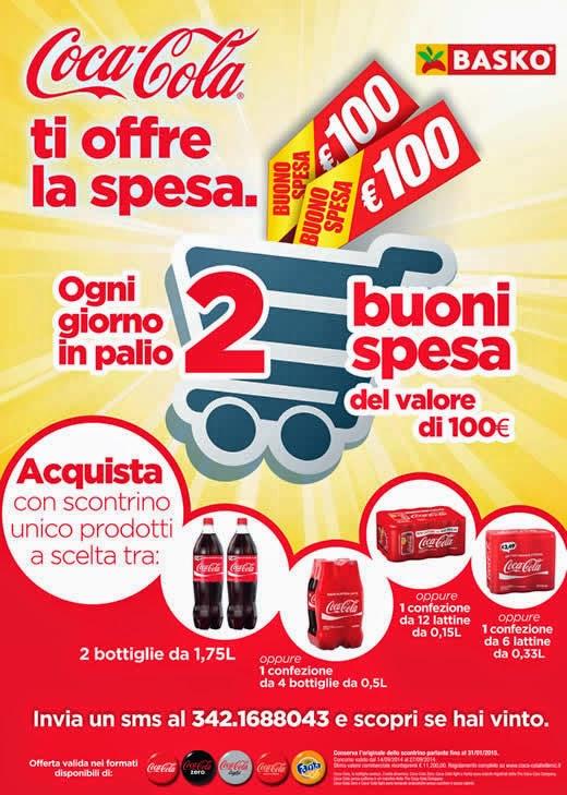 concorso basko e coca cola ti offre la spesa