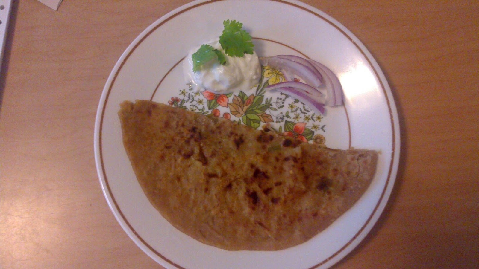Aloo paratha brunch (potato pancakes)