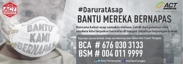 komunitas bitcoin indonesia bantu korban asap di Riau