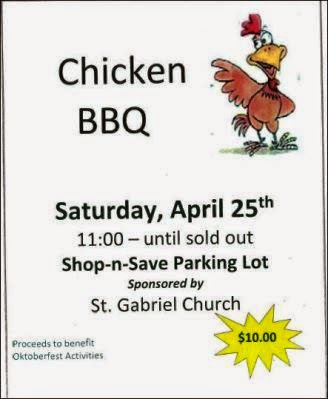 4-25 Chicken BBQ St. Gabriel Church